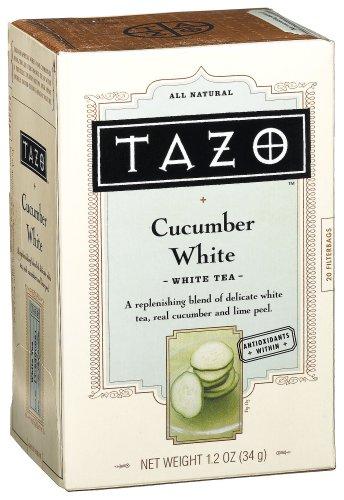Tazo White Cucumber White Tea 20-Count Tea Bags Pack of 6