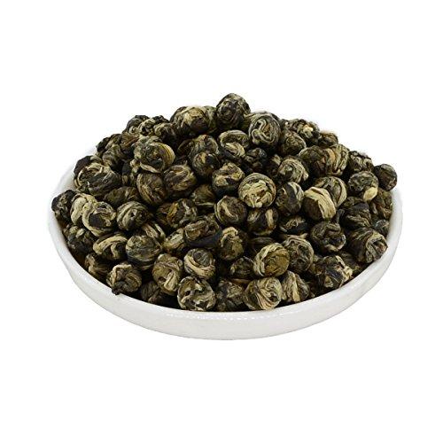 Mozentea Imperial Jasmine Dragon Pearls Green Tea Loose Leaf –Chinese Tea 100G35OZ