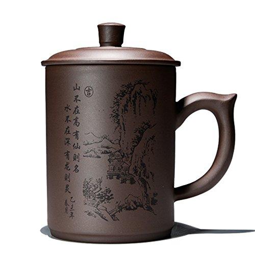 XDOBO Yixing Zisha Handcraft Purple Clay Tea Cup Kung Fu Tea Cup Simple Chinese Tea cup - 500ml 176 oz Capacity