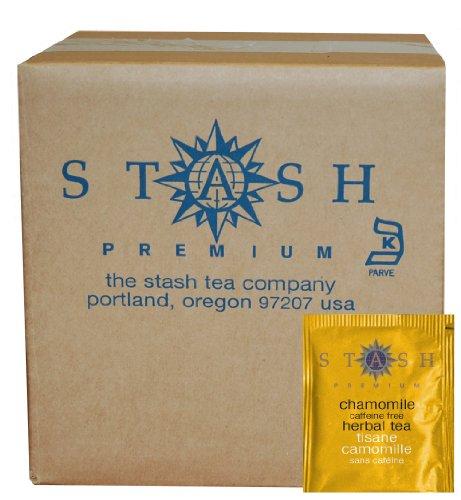 Stash Tea Chamomile Herbal Tea 100 Count Box of Tea Bags in Foil packaging may vary