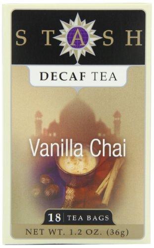 Stash Tea Decaf Vanilla Chai Tea 18 Count Tea Bags in Foil Pack of 6