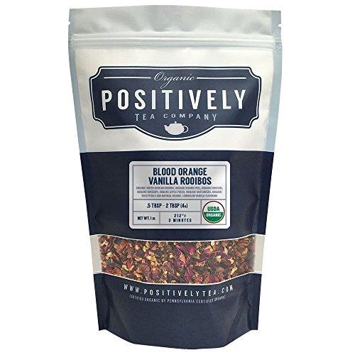 Positively Tea Company Organic Blood Orange Vanilla Rooibos Rooibos Tea Loose Leaf USDA Organic 1 Pound Bag