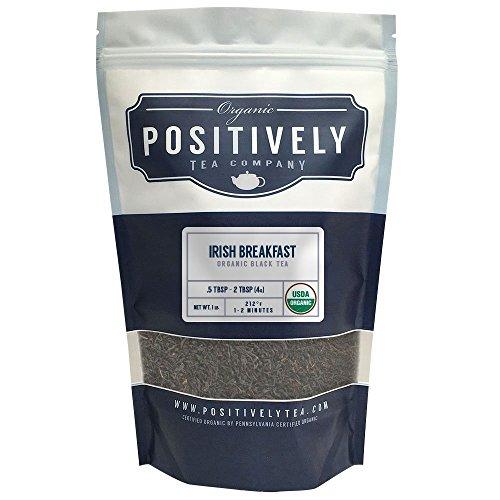 Positively Tea Company Organic Irish Breakfast Black Tea Loose Leaf USDA Organic 1 Pound Bag