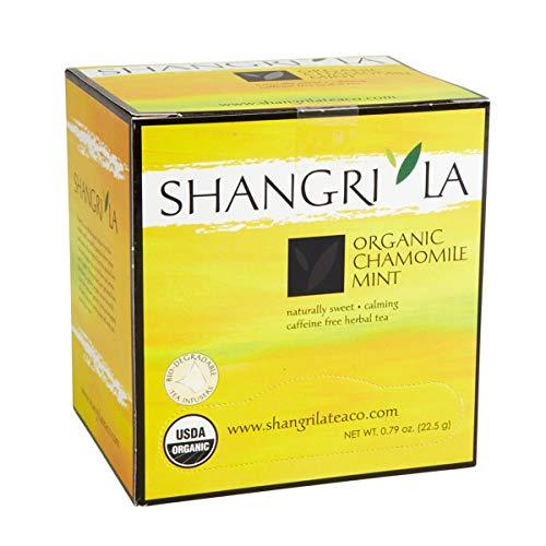 Shangri La Tea Company Organic Tea Sachet Chamomile Mint 15 Count
