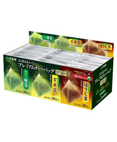 Itoen - Premium Tea Bag Set 60 packs  Ryokucha Sencha Green tea Houjicha Genmaicha per 20 bags
