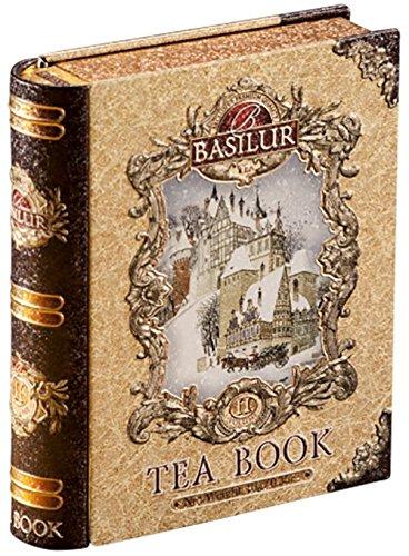 Basilur  Gift Tea Set  Tea Book -Vol 2  Collectable Metal Tin Caddy  Pure Ceylon Black Tea with fruits 100g 352 oz