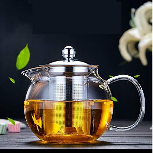 OBOR Glass Teapot with Removable Infuser Stovetop Safe Kettle Blooming and Loose Leaf Tea Maker SetGlass Bottle Pitcher for HotIced Tea 43oz1300ml