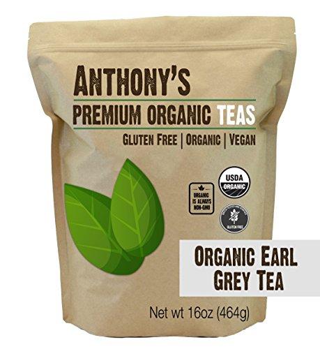 Anthonys Organic Earl Grey Loose Leaf Tea 1lb Gluten Free Non GMO Non Irradiated
