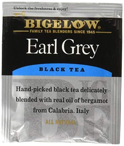 Bigelow Earl Grey Tea Bags 28-Count Box Pack of 1 Black Tea Bags with Oil of Bergamot All Natural Gluten Free Rich in Antioxidants