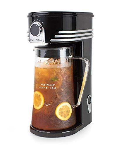 Nostalgia CI3BK Iced Coffee Maker and Tea Brewing System Glass Pitcher 3 quart Black