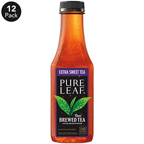 Pure Leaf Iced Tea Extra Sweet Real Brewed Black Tea 185 Fl Oz Bottles Pack Of 12