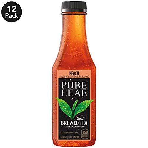 Pure Leaf Iced Tea Peach Sweetened Real Brewed Black Black Tea 185  Fl Oz Bottles Pack of 12