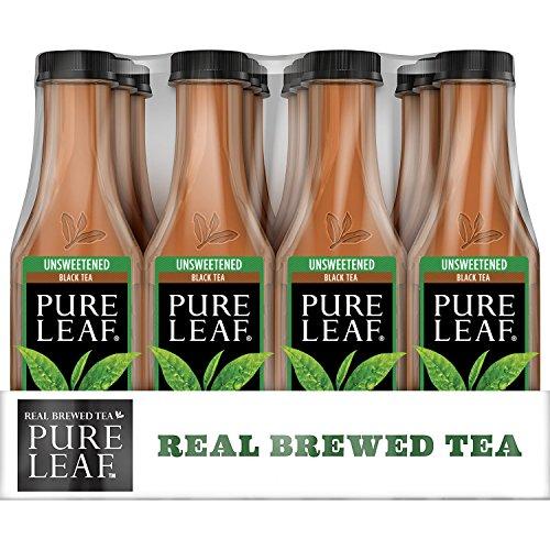 Pure Leaf Iced Tea Unsweetened Real Brewed Black Tea 0 Calories 185 Fl Oz Pack of 12