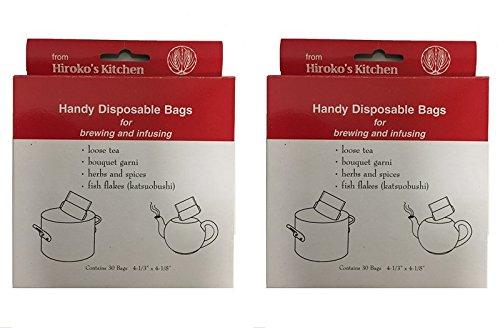 Hirokos Kitchen Tea Filter Bags Disposable Tea Infuser and Bouquet Garni Bags Set of 60