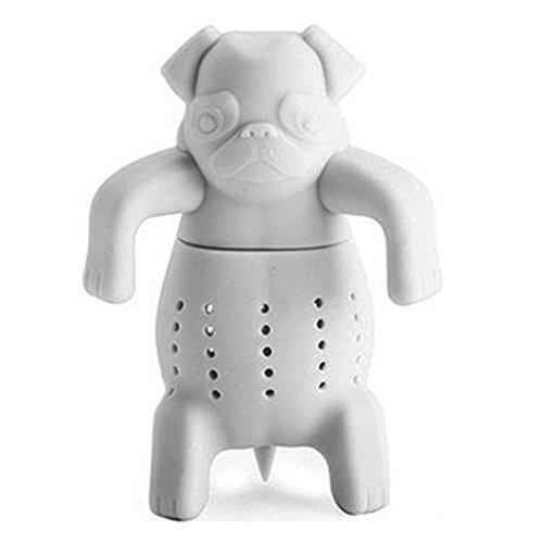 Taiguang Pug Tea Infuser Cute Bulldogs Silicone Tea Strainers-Deep Tea Scuba Diver Tea Infuser
