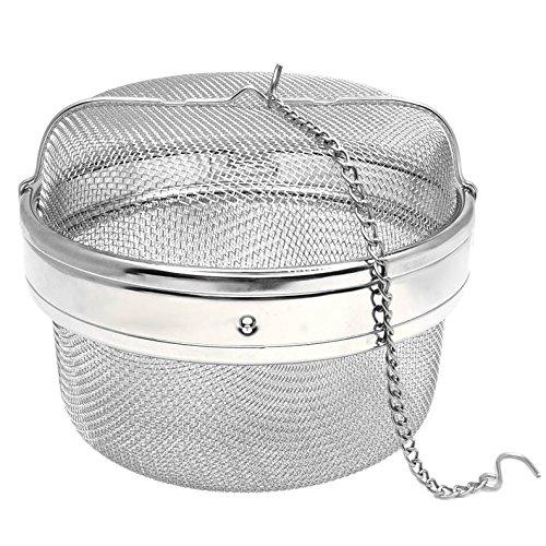 Happy Sales HSSSTB5 Stainless Steel Spice Tea Infuser Strainer Filter- 525 INCH