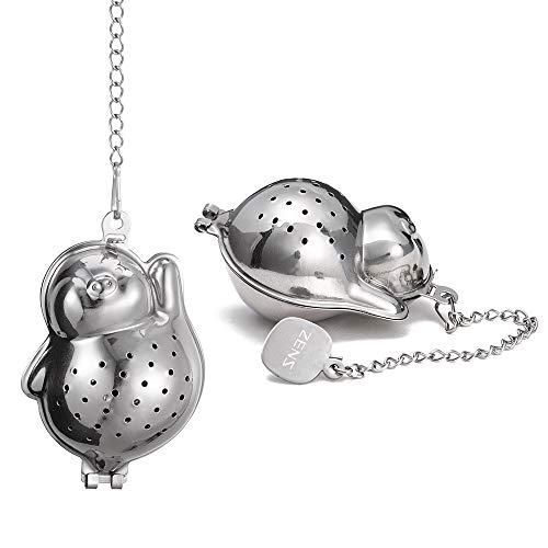 ZENS Tea Infusers SetStainless Steel Tea Ball StrainersFine Mesh Loose Tea Steepers Set of 2 for Tea PotMug and Cups