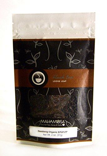 Mahamosa Assam Indian Black Tea and Tea Filter Set 2 oz Rembeng Organic TGFOP Black Tea 100 Loose Leaf Tea Filters Bundle- 2 itemsTea Ingredients Single estate Indian Assam region black tea