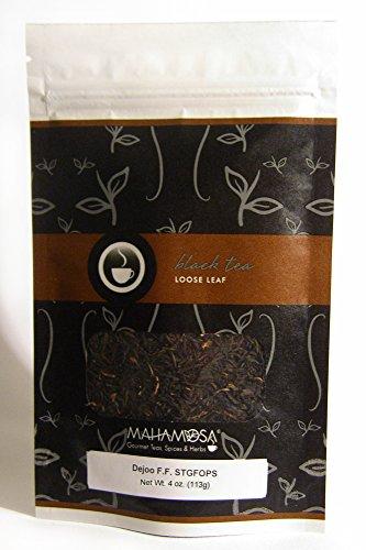 Mahamosa Assam Indian Black Tea and Tea Filter Set 4 oz Dejoo First Flush STGFOPS Black Tea 100 Loose Leaf Tea Filters Bundle- 2 itemsTea Ingredients Single estate Indian Assam region black tea
