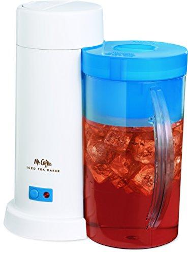Mr Coffee 2-Quart Iced Tea Maker for Loose or Bagged Tea Blue