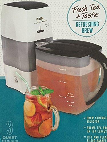 Mr Coffee Iced Tea Maker 3 Quart with Brew Strength Selector Black