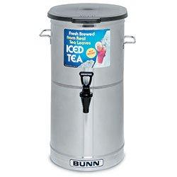 Iced Tea Dispenser - Bunn Oval 5 Gallon - Stainless Steel Construction - Bunn TDO-5341000001