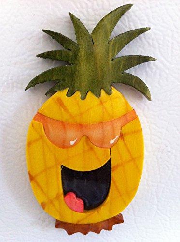 Happy Pineapple Art Wooden Fridge Magnet Kitchen Decor Artesania