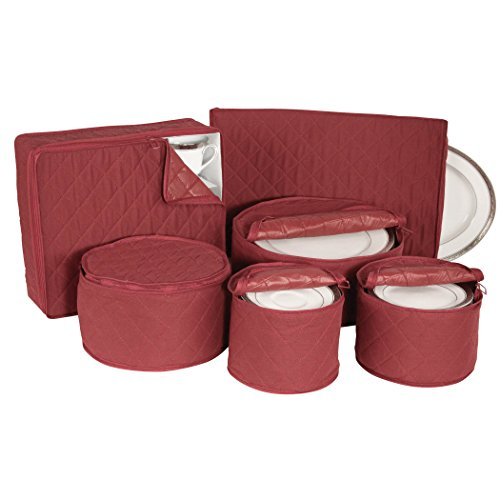 Quilted China Keepers 6pc Starter Set -Crimson
