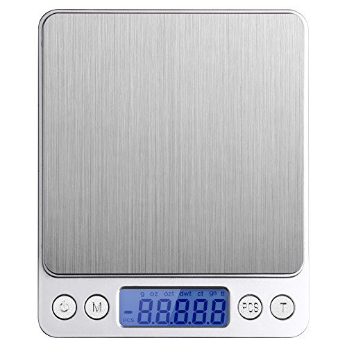 Etekcity 2000g Digital Pocket Scale, Stainless Steel, Backlit Display, 0.01oz Resolution