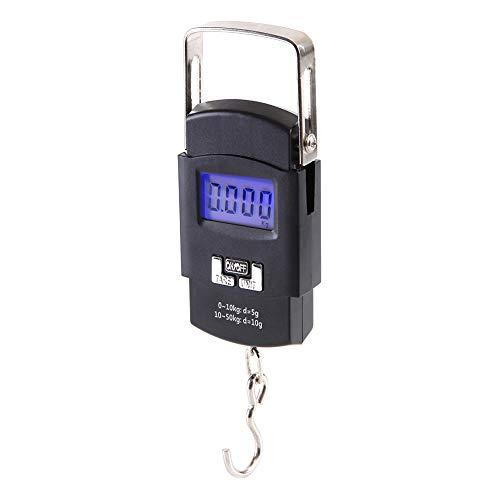 Shentesel 50Kg10g Digital Electronic Scale Luggage Hanging Weight Hook Balance - Black