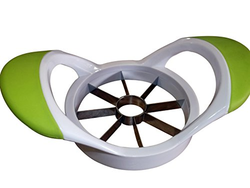 Apple Slicer Corer And Cutter Dividing Apples In 8 Sections Stainless-steel Blades White And Green