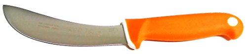 Mundial Mundihunt 6 Skinning Knife - Soft Grip In Blaze Orange - High-Carbon Stainless Steel Blade - Commercial Grade Skinner For Meat Processing