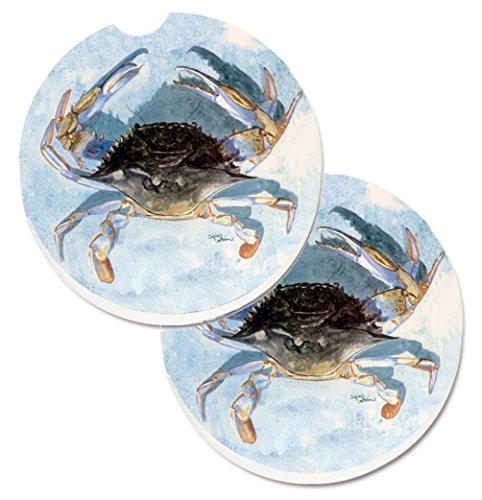 Carolines Treasures Blue Crab Set of 2 Cup Holder Car Coasters 8011CARC 256 Multicolor