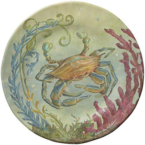 Merritt Sealife 825-inch Round Salad Plates Crab Set of 6