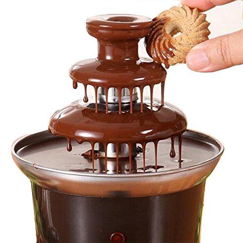 220V Chocolate Fountain Machine Fondue Maker Heated 3-Tier Home Household