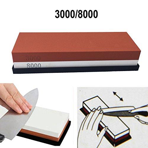 Cafolo~ 3000-8000 Grit Premium Whetstone Knife Sharpening Stone VALUE BUNDLE Kit ENJOYABLE Smooth EFFORTLESS NO-SLIP Base Utmost SAFETY Superior QUALITY Perfect GIFT