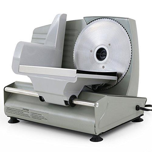 Arksen© Electric Commercial Deli Meat Slicer, Stainless Steel, 7.5-inch, 180-watt