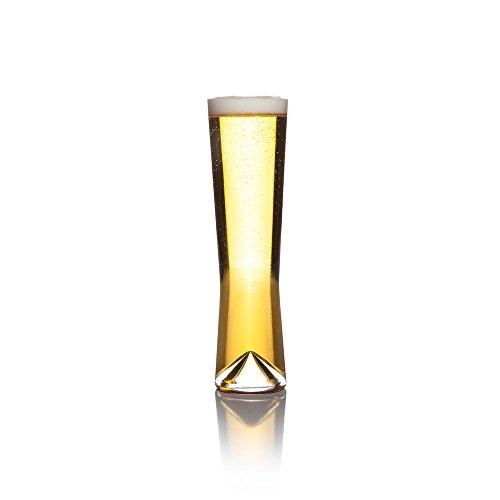 Sempli Monti-Pils Clear Pilsner Beer Glasses Set of 2 in Gift Box