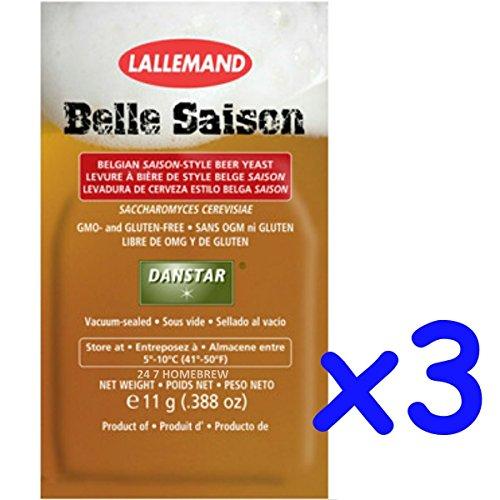 3x Danstar BELLE SAISON Belgium Beer Yeast 11g Fast Fermenting