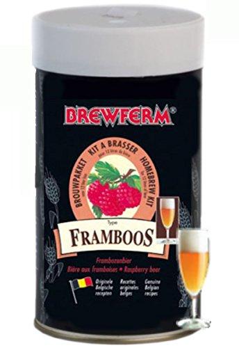 Brewferm RASPBERRY Beer Kit 12L ABV 55 Homebrew Genuine Belgium Beer Making