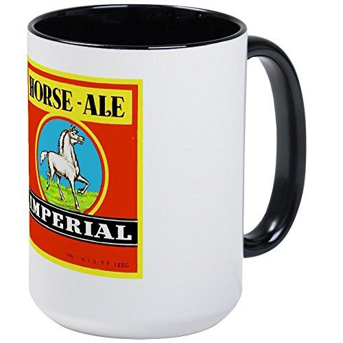 CafePress - Belgium Beer Label 6 Large Mug - Coffee Mug Large 15 oz White Coffee Cup