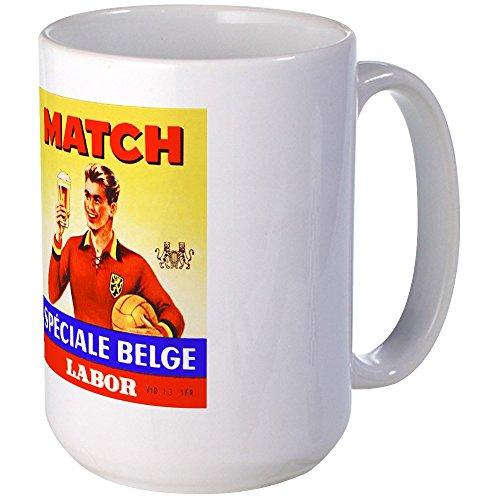 CafePress - Belgium Beer Label 9 Large Mug - Coffee Mug Large 15 oz White Coffee Cup