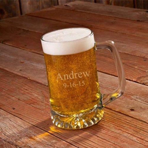Personalized 25 oz Beer Mug - Monogrammed Beer Mug - Engraved Groomsmen Beer Mug
