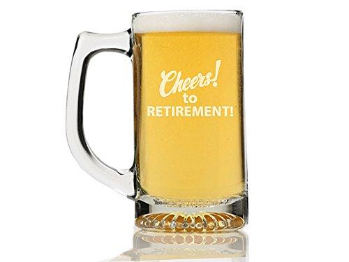 Chloe and Madison Cheers to Retirement Beer Mug Set of 4