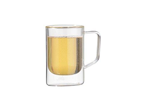Vosi Double Wall Glass Beer Mug Set of 2 12 oz