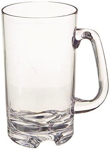 Wine Enthusiast IndoorOutdoor Beer Mug Set of 4 Clear