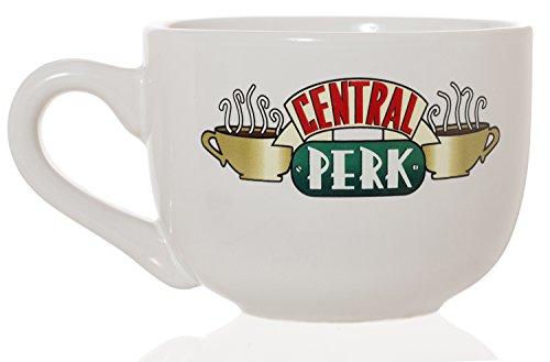 Friends Central Perk Latte Coffee Mug 16oz - Choose White or Black White 16oz