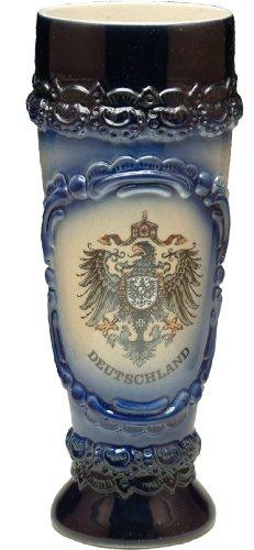 Beer Mug by King - Deutschland Germany Shield German Wheat Beer Cup Blue 05l