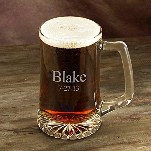 Personalized Beer Mug - 25 oz - Sports Beer Mug - Monogrammed Beer Mug - Groomsmen Beer Mug