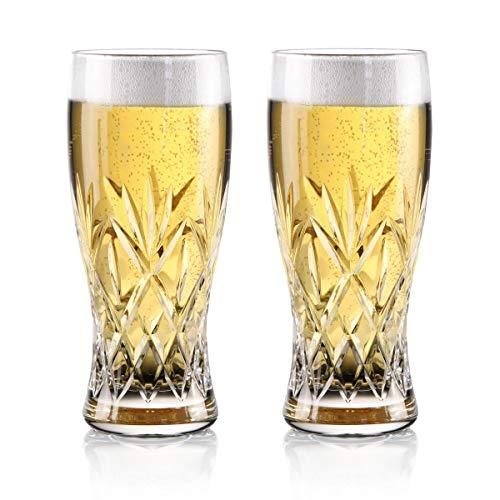 Waterford Crystal Huntley Pint Beer Glasses Pair